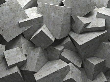 concrete 3d cube wall background Banco de Imagens - 39050539