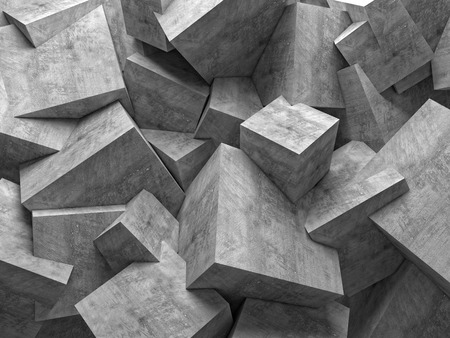 concrete 3d cube wall background Imagens - 39050540