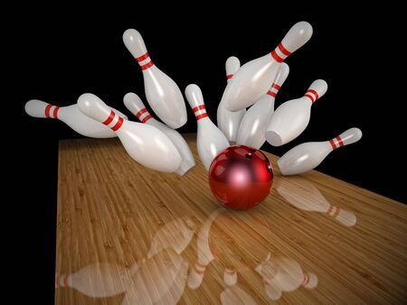 skittle: 3d image of bowling ball and skittle