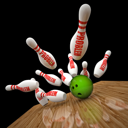 skittle: bowling skittle and problem text background