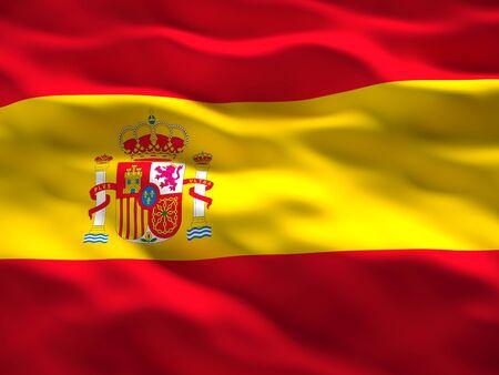 spain flag: image of waved spain flag