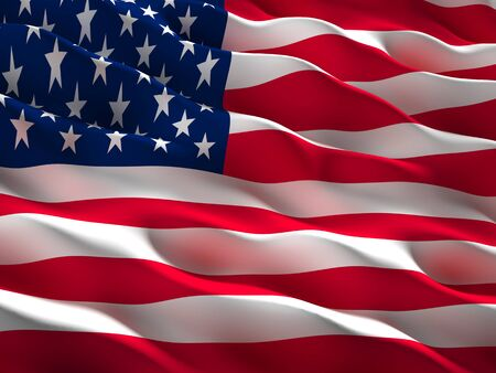 usa flag: image of waved usa flag