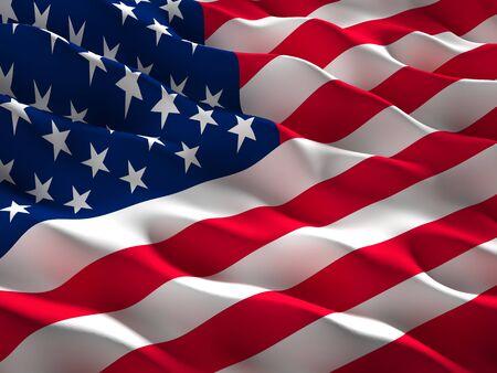 image of waved usa flag