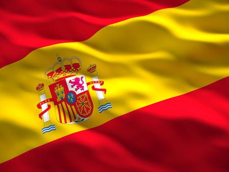 image of waved spain flag