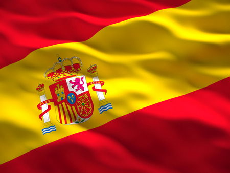 image of waved spain flag