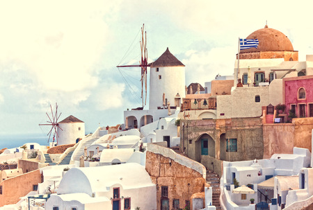 urbanscape: oia view santorini island greece Stock Photo