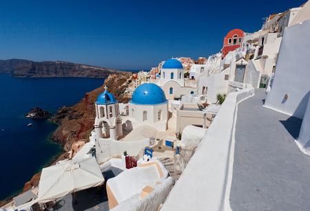 urbanscape: view of oia town in santorini greece