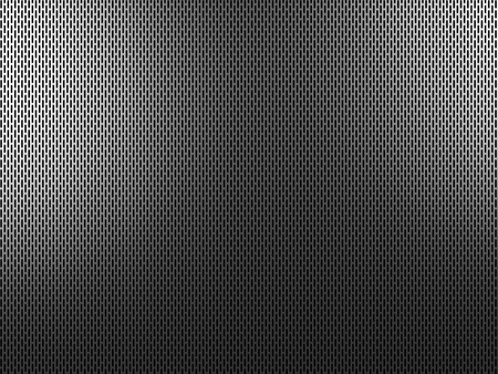 woven: 3d background of perforated metal Stock Photo