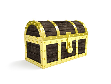 treasure: 3d image of classic chest treasure