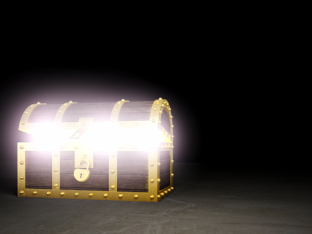 safe: 3d image of classic chest treasure