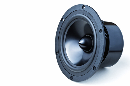 woofer: closeup image of woofer speaker Stock Photo