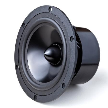 closeup image of woofer speaker Archivio Fotografico