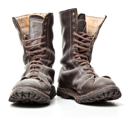 combat boots: combat boot isolated on white background