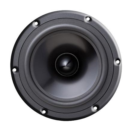 woofer: woofer speaker isolated on white
