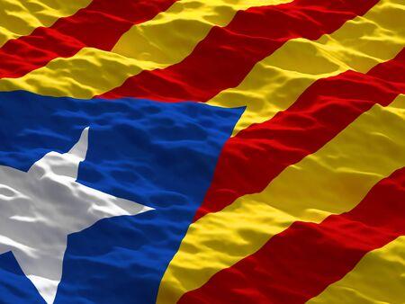 separatist: Catalan separatist flag 3d image