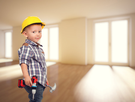 home protection: little builder and 3d house indoor