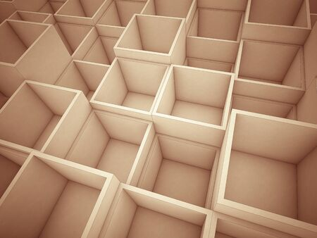 3d: 3d abstract cube background Stock Photo