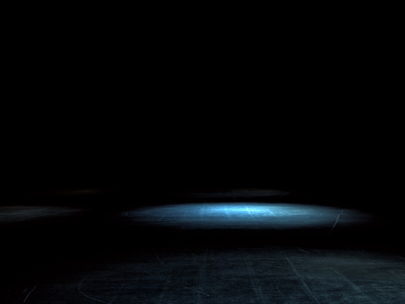 concrete floor: dark place with light spot background