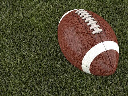 football ball: american football ball on grass