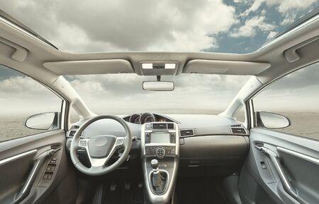 concept car: car interior backgroun no people
