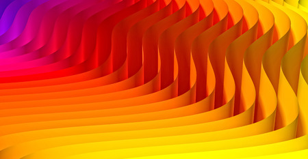 waved: 3d image of waved abstract background Stock Photo