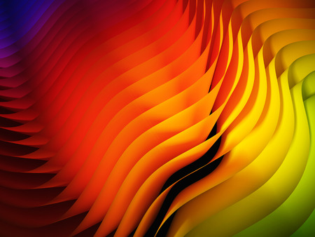 3d image: 3d image of waved abstract background Stock Photo