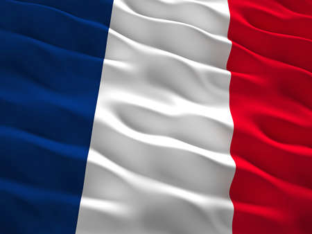 waved: 3d waved france flag background