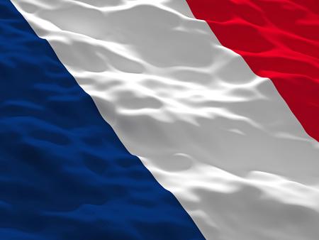 waved: 3d waved france flag background