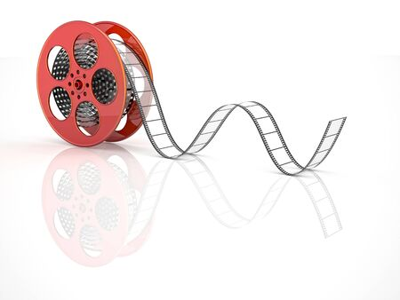 videomaker: render of classic cinema film roll Stock Photo