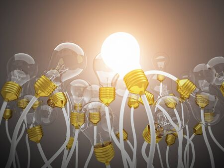 inventions: 3d light bulb background image