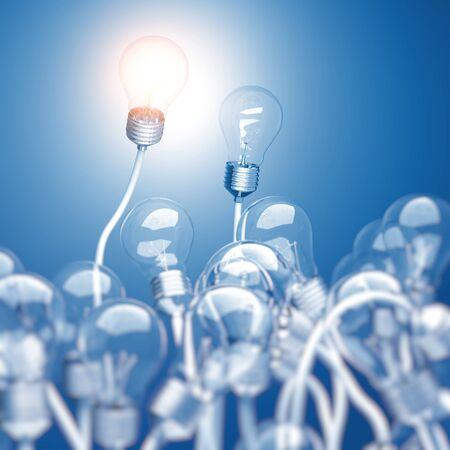bulb light: 3d light bulb background image