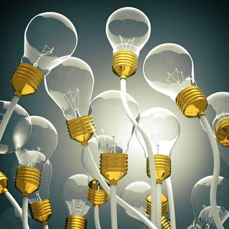 invent: 3d light bulb background image