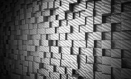 3d carbon: 3d carbon fiber cubes  background Stock Photo
