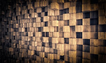 oak wood: wood geometric background 3d image