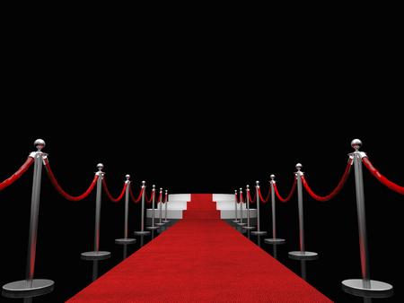 rojo: Imagen 3D de alfombra roja clásica