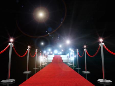 3d obraz klasycznym czerwonym dywanie Zdjęcie Seryjne
