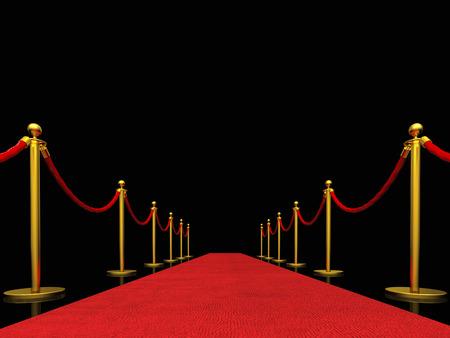 Imagen 3D de alfombra roja clásica Foto de archivo - 50712611