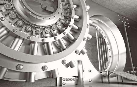 deposit: 3d image of huge vault door