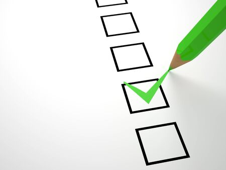 groen potlood en selectievakje