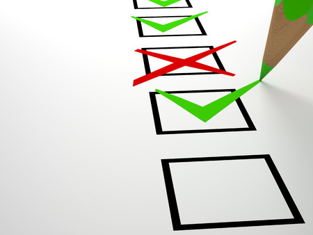 accepting: check box on white business  background Stock Photo