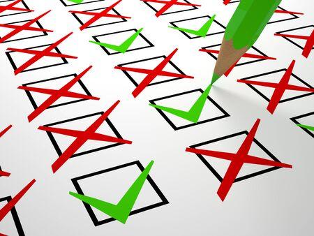 check box: check box on white business  background Stock Photo