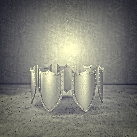 metal shield: 3d metal shield abstract background