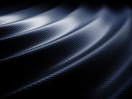 macro: 3d image of classic carbon fiber texture
