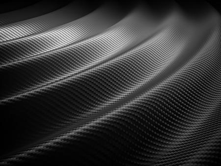 black car: 3d image of classic carbon fiber texture
