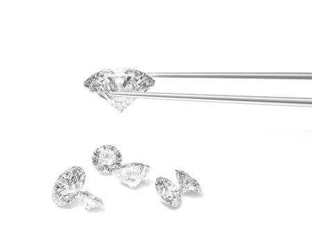 diamond classic cut on white background Banco de Imagens