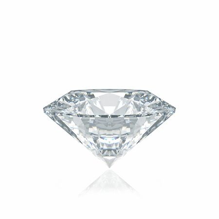 diamond classic cut on white background 스톡 콘텐츠