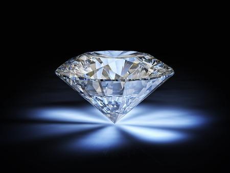Diamant klassischen Schnitt auf weißem Hintergrund