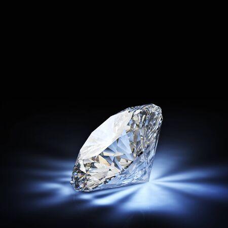 Diamant klassischen Schnitt auf weißem Hintergrund Standard-Bild