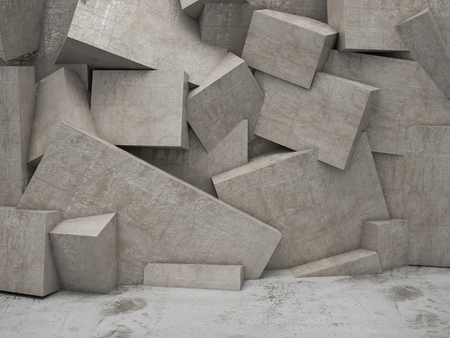 concrete 3d geometric wall background