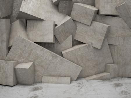 concrete 3d geometric wall background
